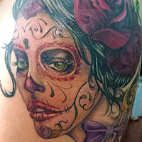 Day of the Dead Girl Tattoo - Amy Ausiello