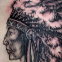 Navtive American Chief Tattoo - Amy Ausiello